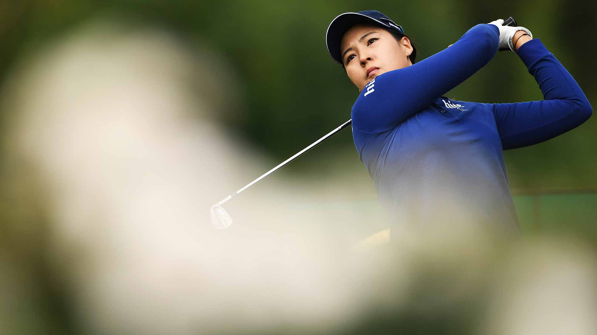 In Gee Chun of Korea plays a shot during the second round of The Evian Championship