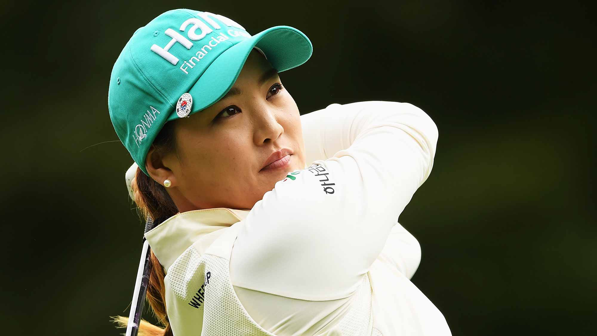 So Yeon Ryu of Korea plays a shot during the third round of The Evian Championship