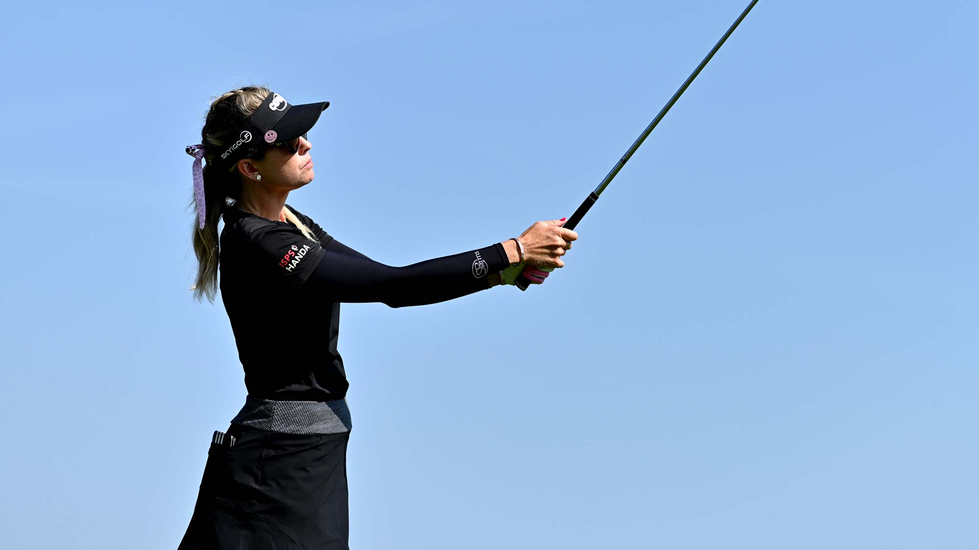 Paula Creamer of The United States on the fifth during day 1 of the Evian Championship