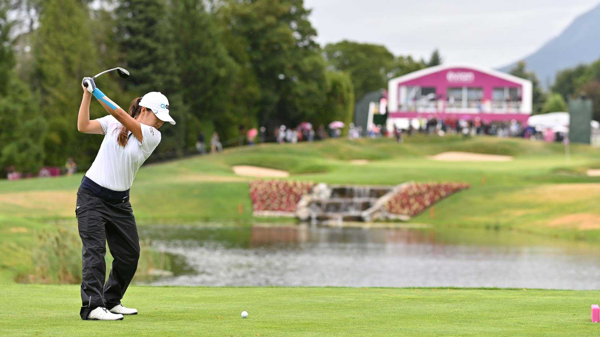 I. K. Kim of South Korea in action on the 5th hole during day 4 of the Evian Championship