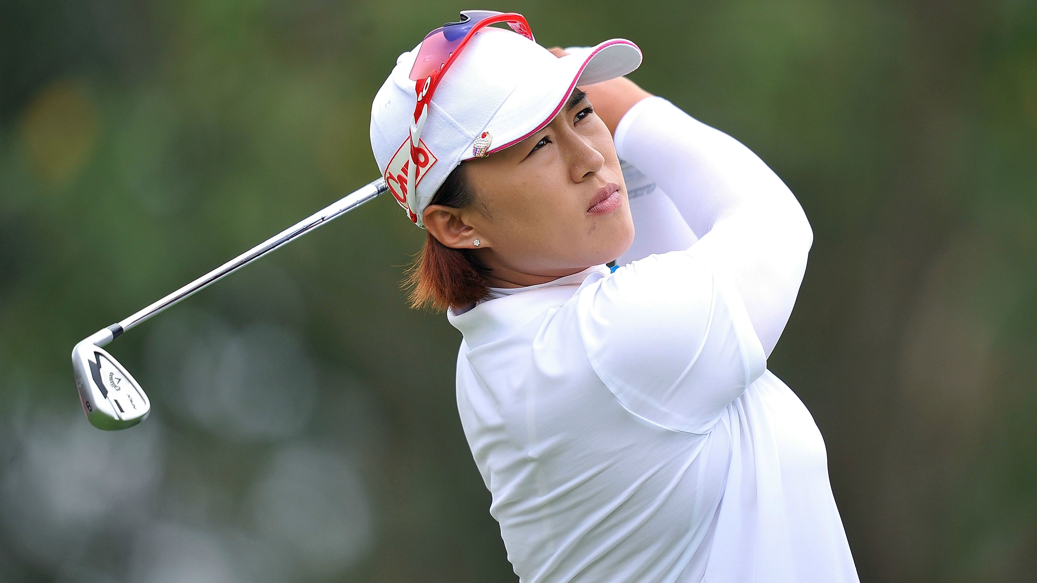 Amy Yang of South Korea plays a shot during day four of the 2015 LPGA Thailand at Siam Country Club
