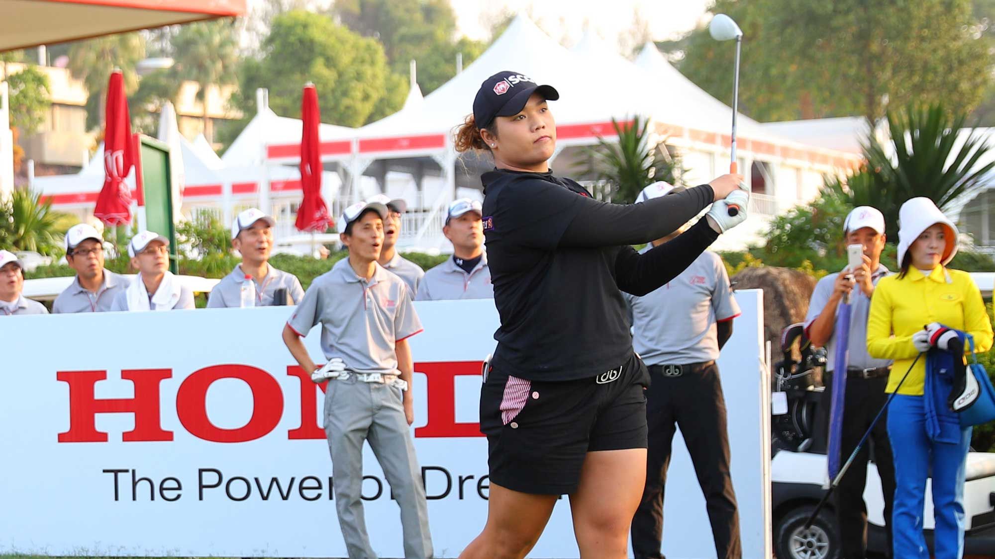 Ariya Jutanugarn during a practice round at the 2017 Honda LPGA Thailand