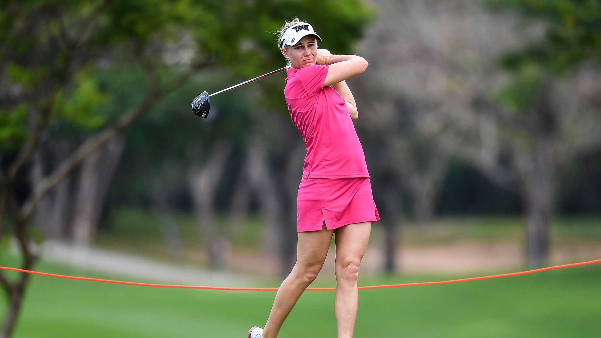 Ryann O'Toole of United States plays a shot during round one of the Honda LPGA Thailand