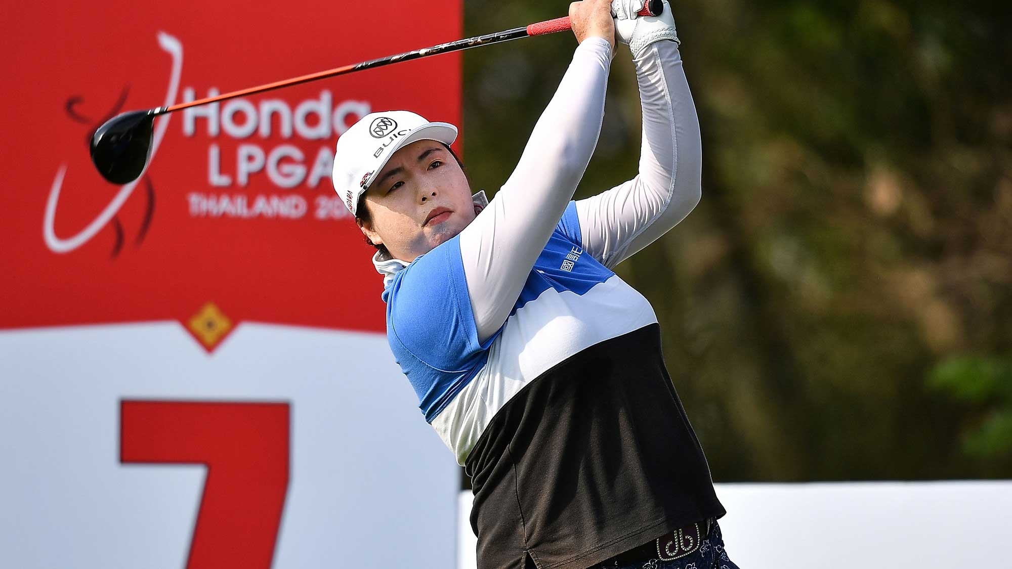 Shanshan Feng of China tee off at 7th hole during the Honda LPGA Thailand