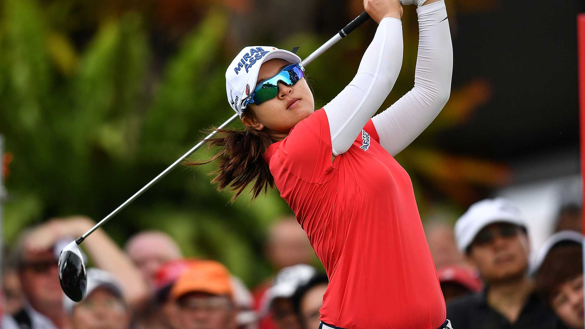 Sei Young Kim of Republic of Korea plays the shot during the final round of Honda LPGA Thailand