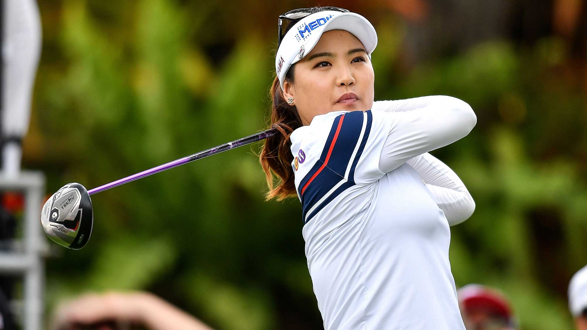 So Yeon Ryu Republic of Korea plays the shot during the final round of Honda LPGA Thailand