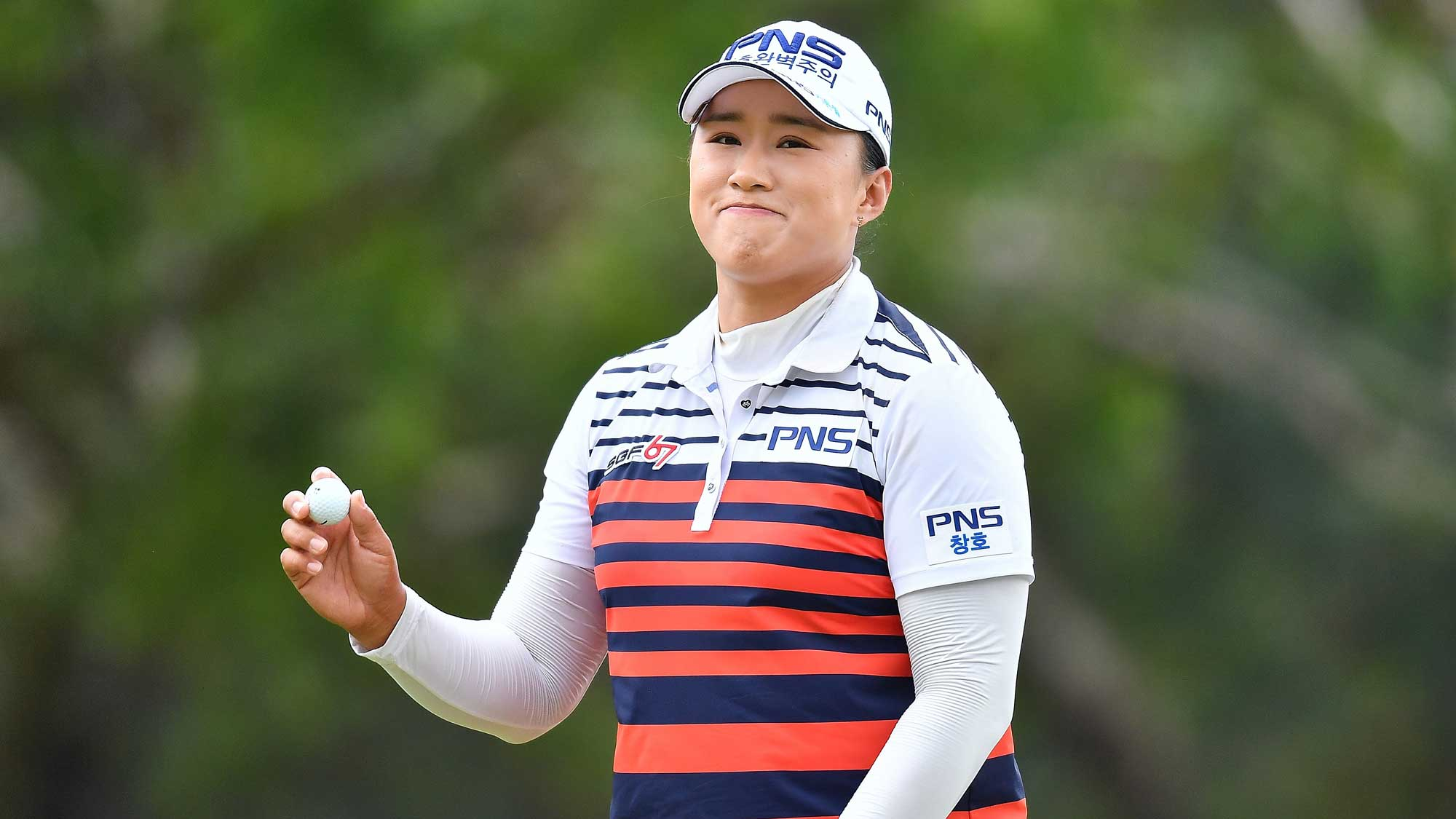 Amy Yang After a Birdie at Honda LPGA Thailand