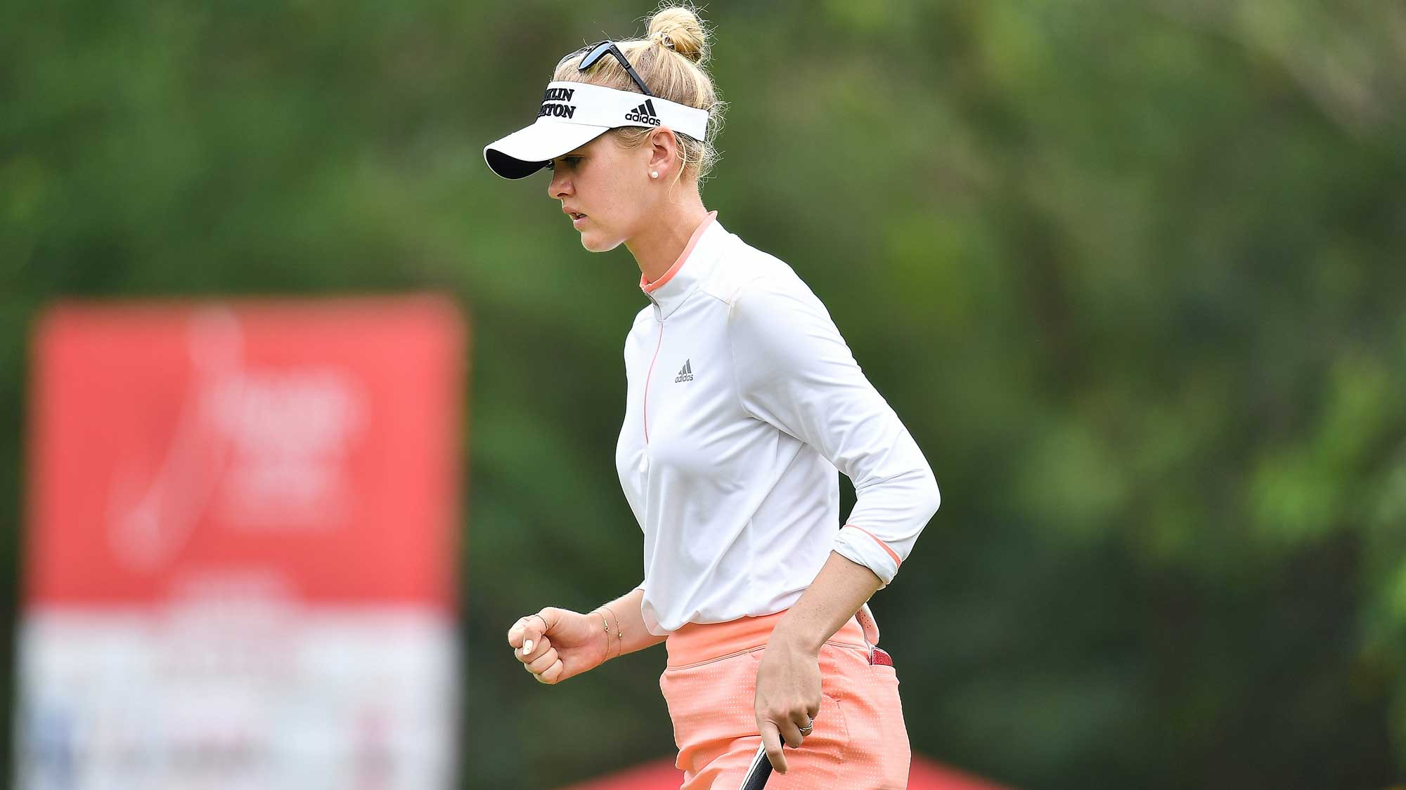 Jessica Korda Fist Pump at Honda LPGA Thailand