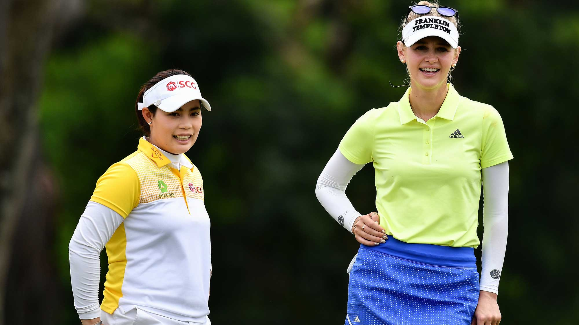 Korda and Jutanugarn Share a Laugh at Honda LPGA Thailand