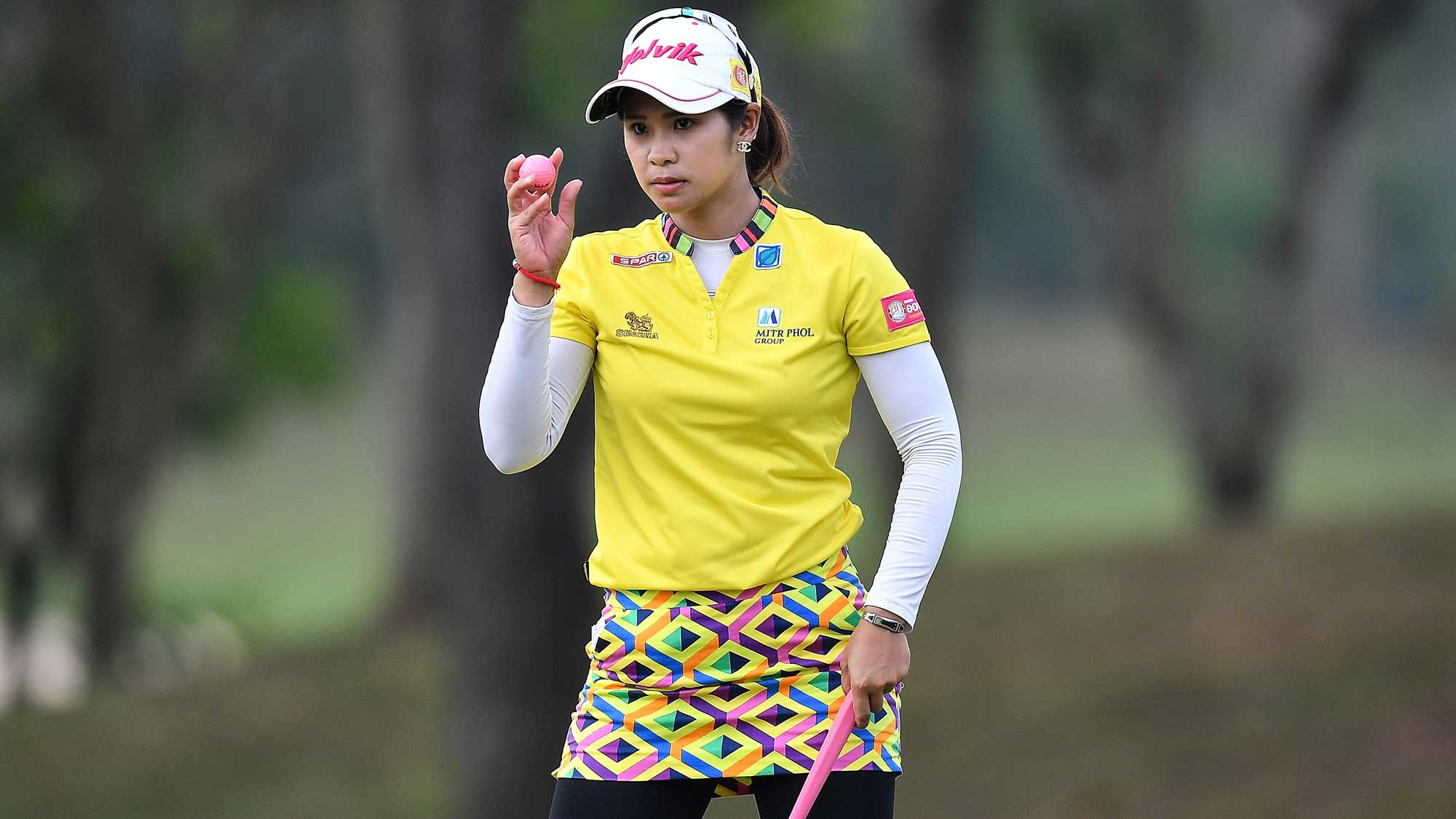 Pornanong Phatlum of Thailand at the Honda LPGA Thailand