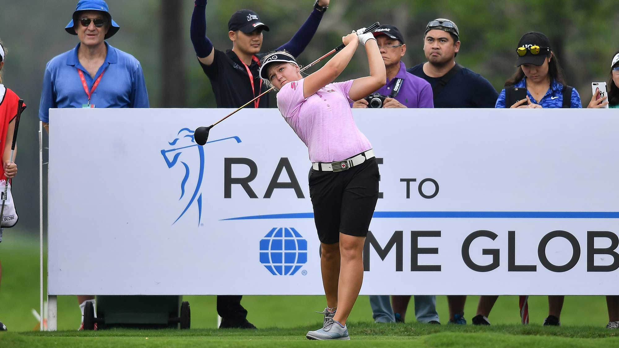 Brooke Henderson Swings  on Day One of Honda LPGA Thailand