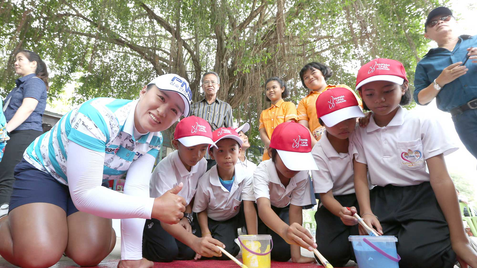Fun with the Kids at Honda LPGA Thailand
