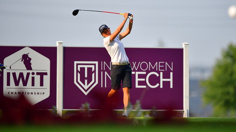 Catriona Matthew during a practice round before the 2017 Indy Women In Tech presented by Guggenheim