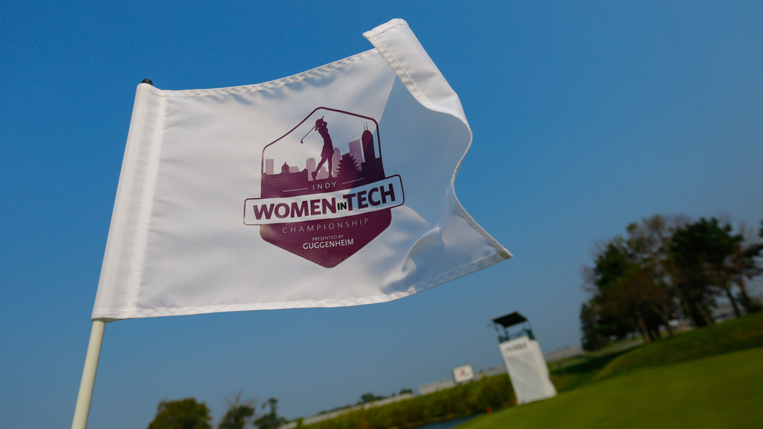 Pin flag for the 2017 Indy Women In Tech presented by Guggenheim