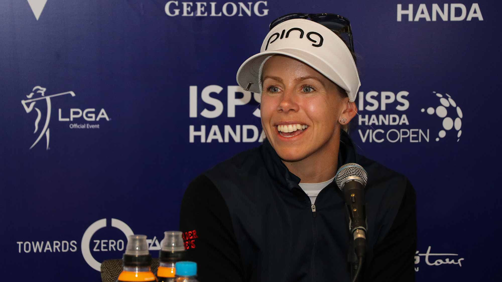 Pernilla Lindberg Meets With The Media Ahead of the 2019 ISPS Handa Vic Open in Australia