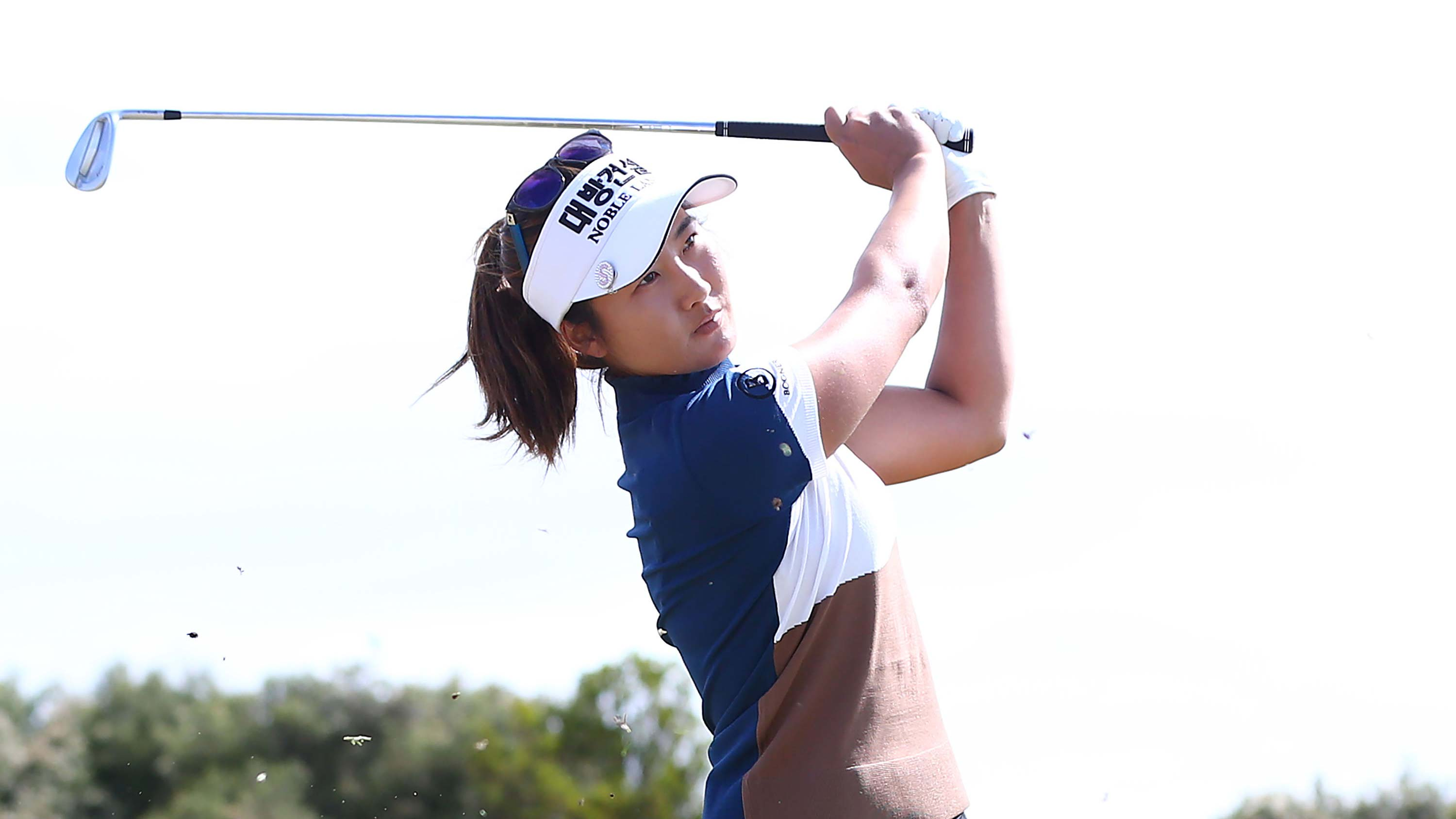 Su Oh of Australia hits an approach shot during day four of the ISPS Handa Vic Open at 13th Beach Golf Club on February 10, 2019 in Geelong, Australia