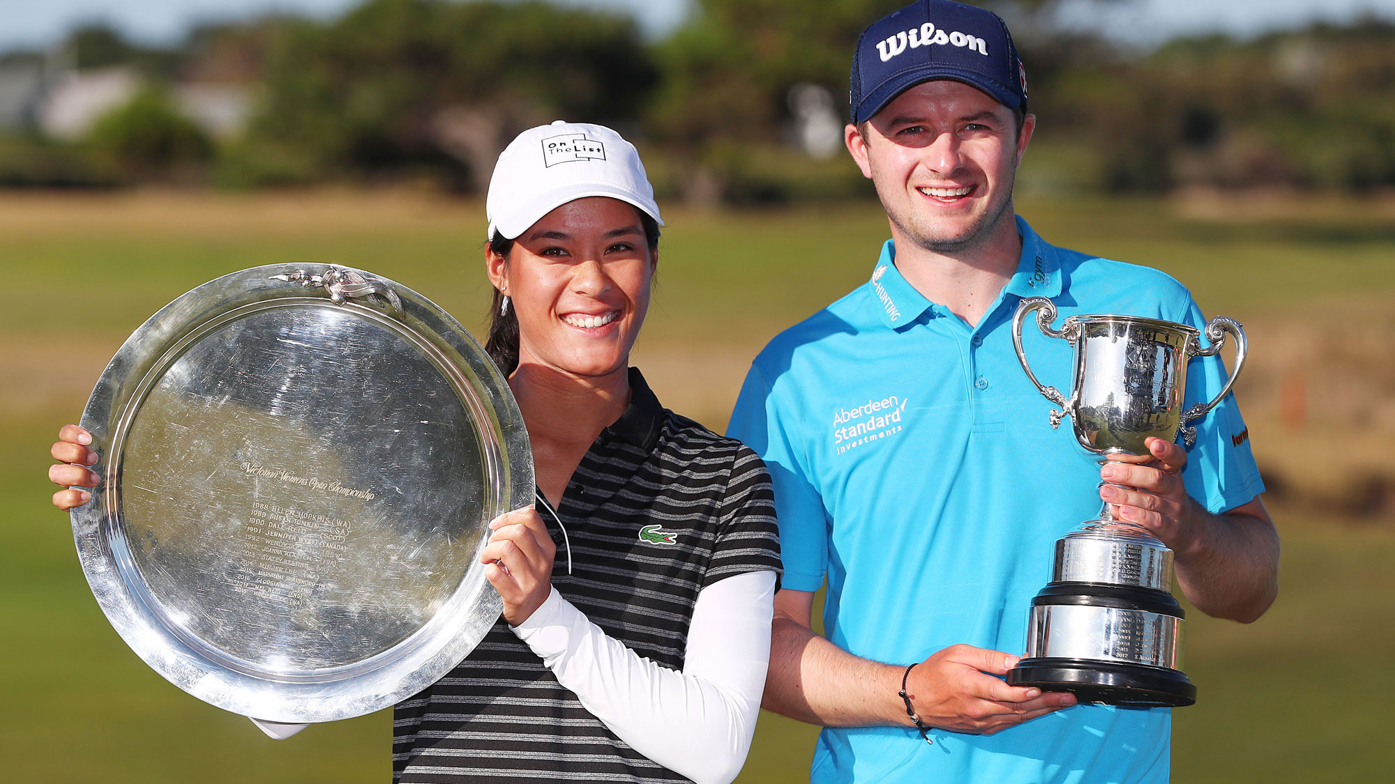 Defending champs Celine Boutier and David Law