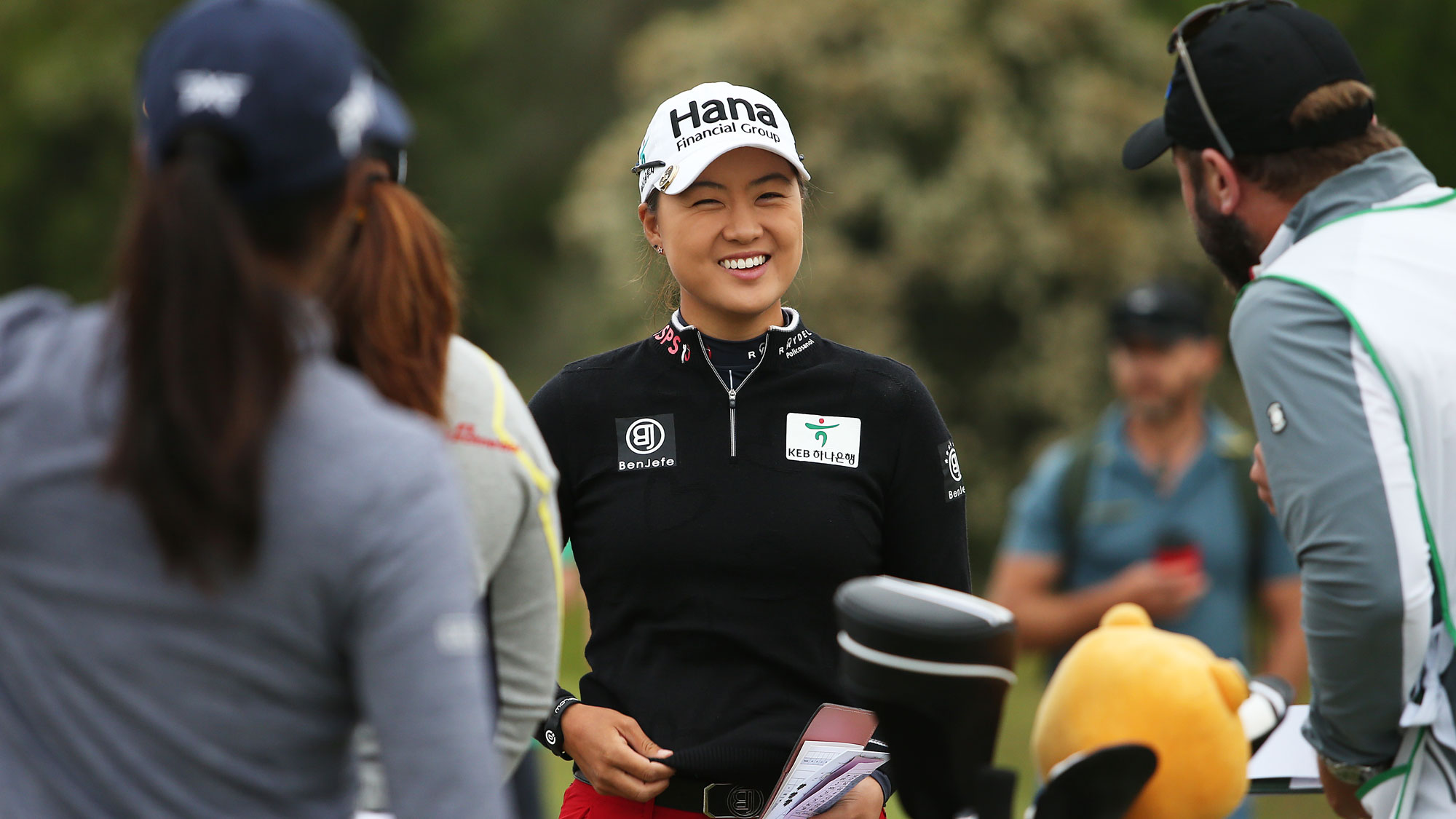 Minjee Lee smiles at ISPS Handa Vic Open