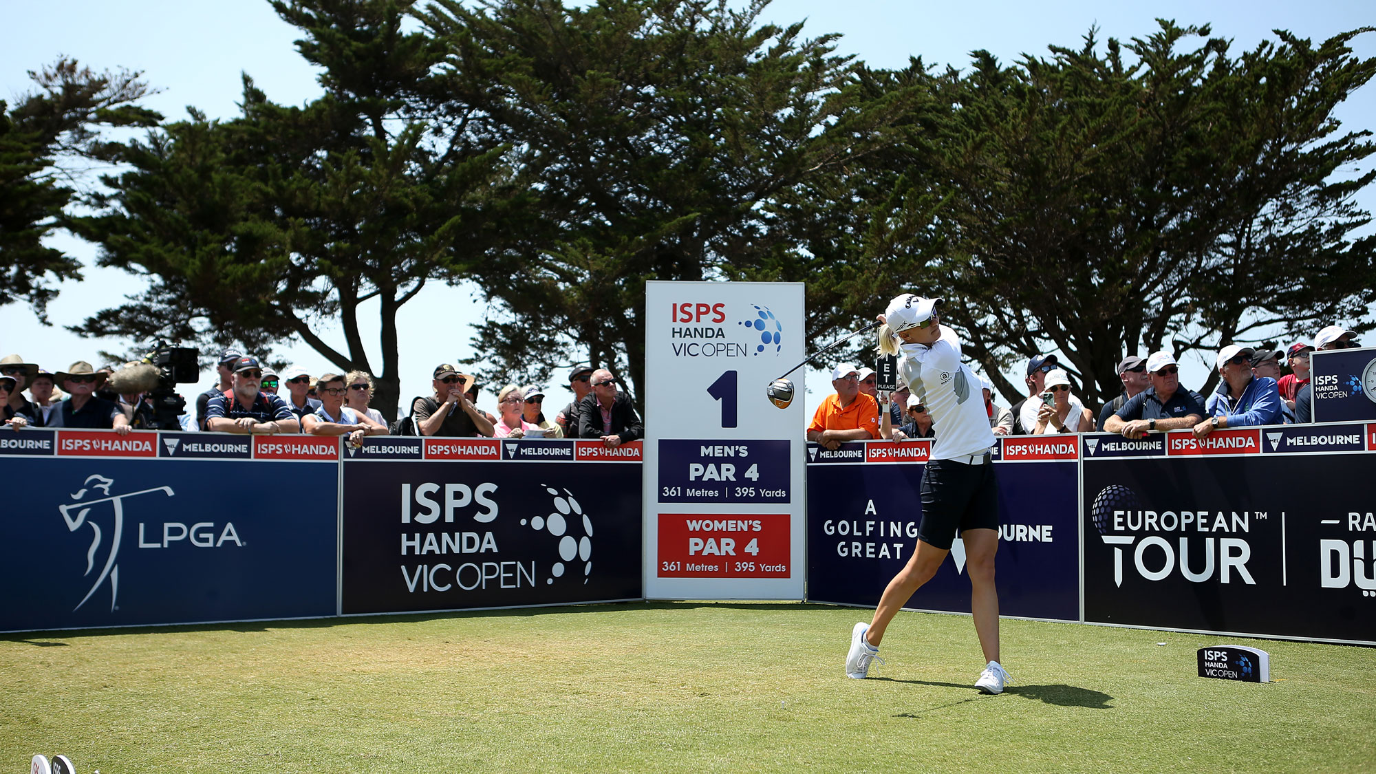 Madeline Sagstrom tees off at ISPS Handa Vic Open