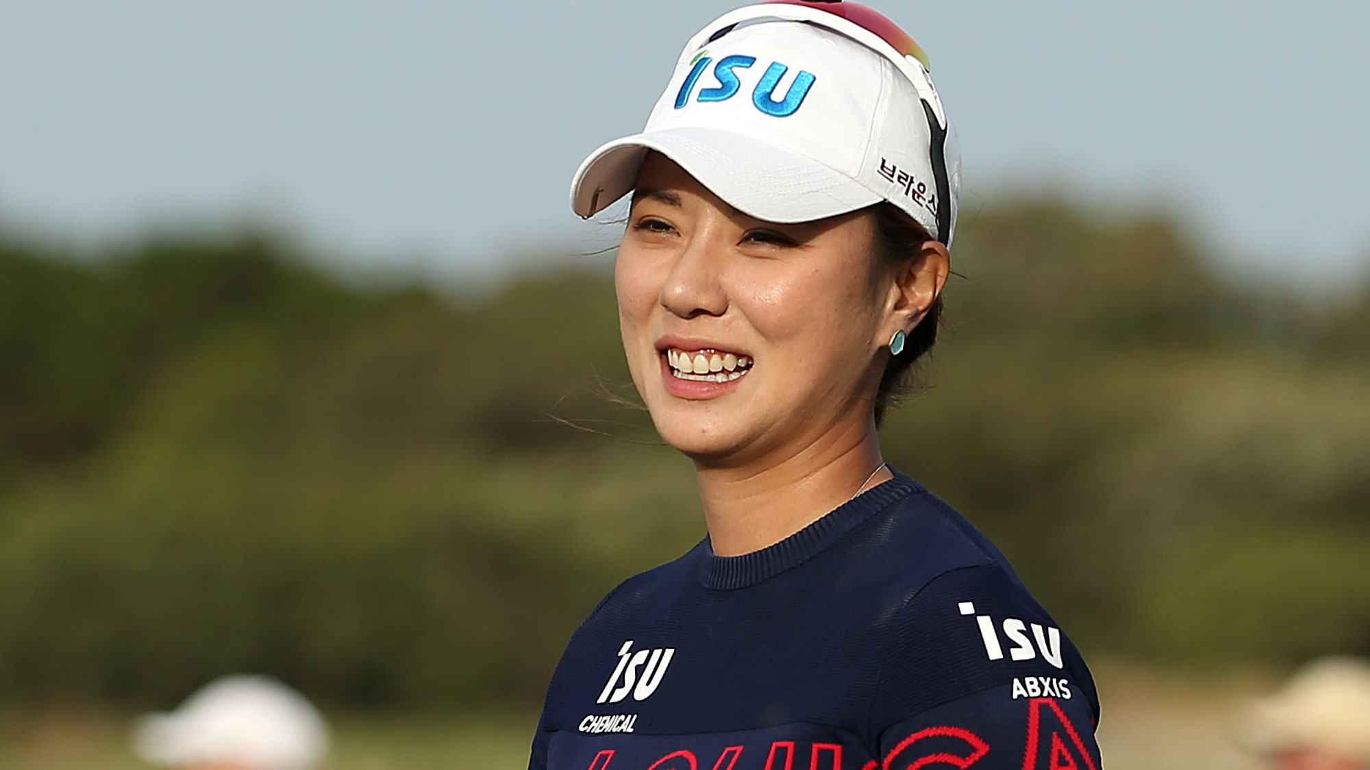 Hee-young Park celebrates winning the ISPS Handa Vic Open