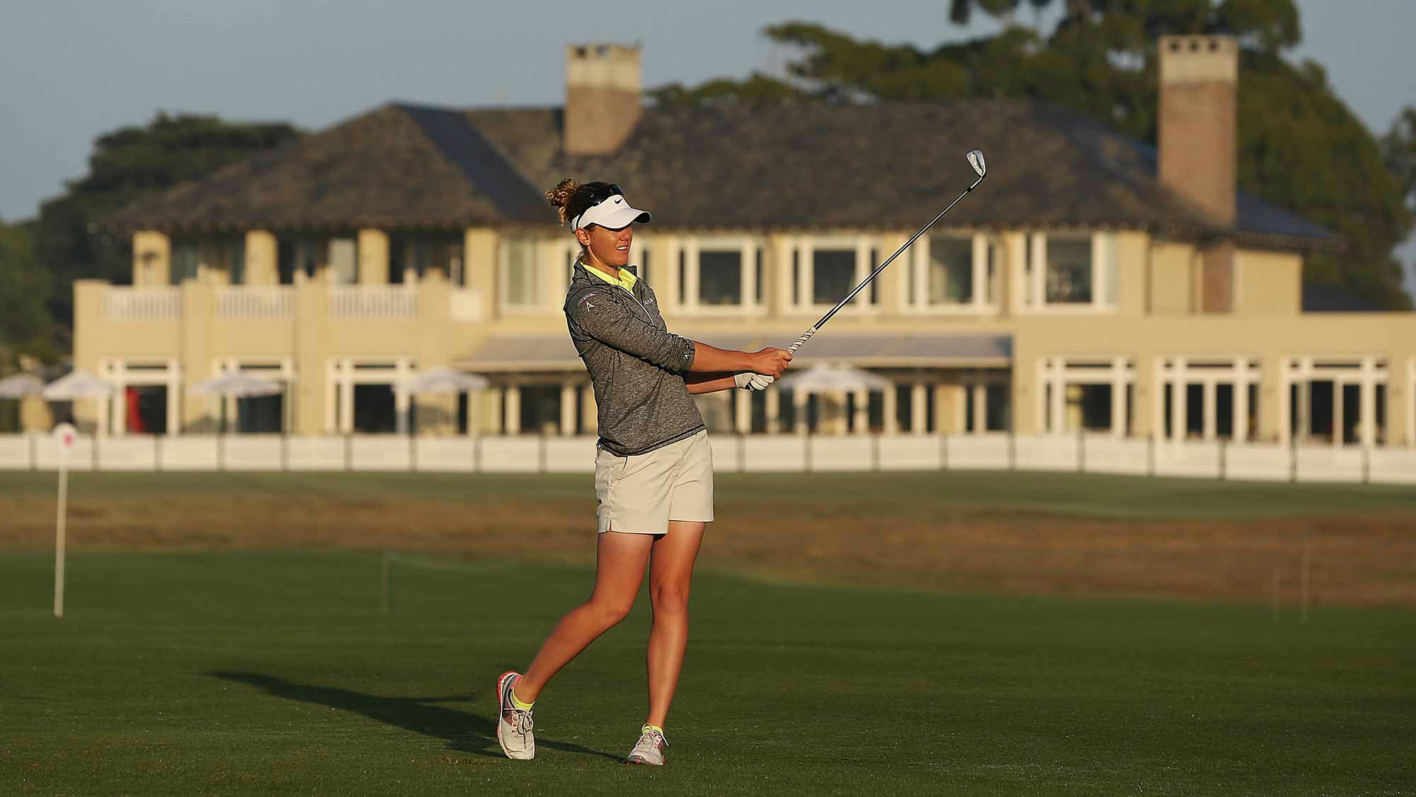 Amy Anderson at the ISPS Handa Australian Women's Open 2nd Round