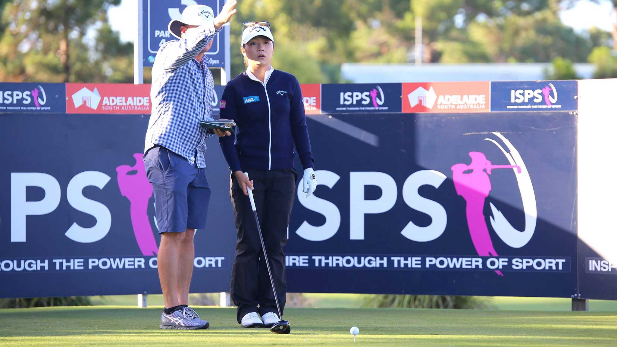 Lydia Ko during a practice round before the 2016 ISPS Handa Women's Australian Open