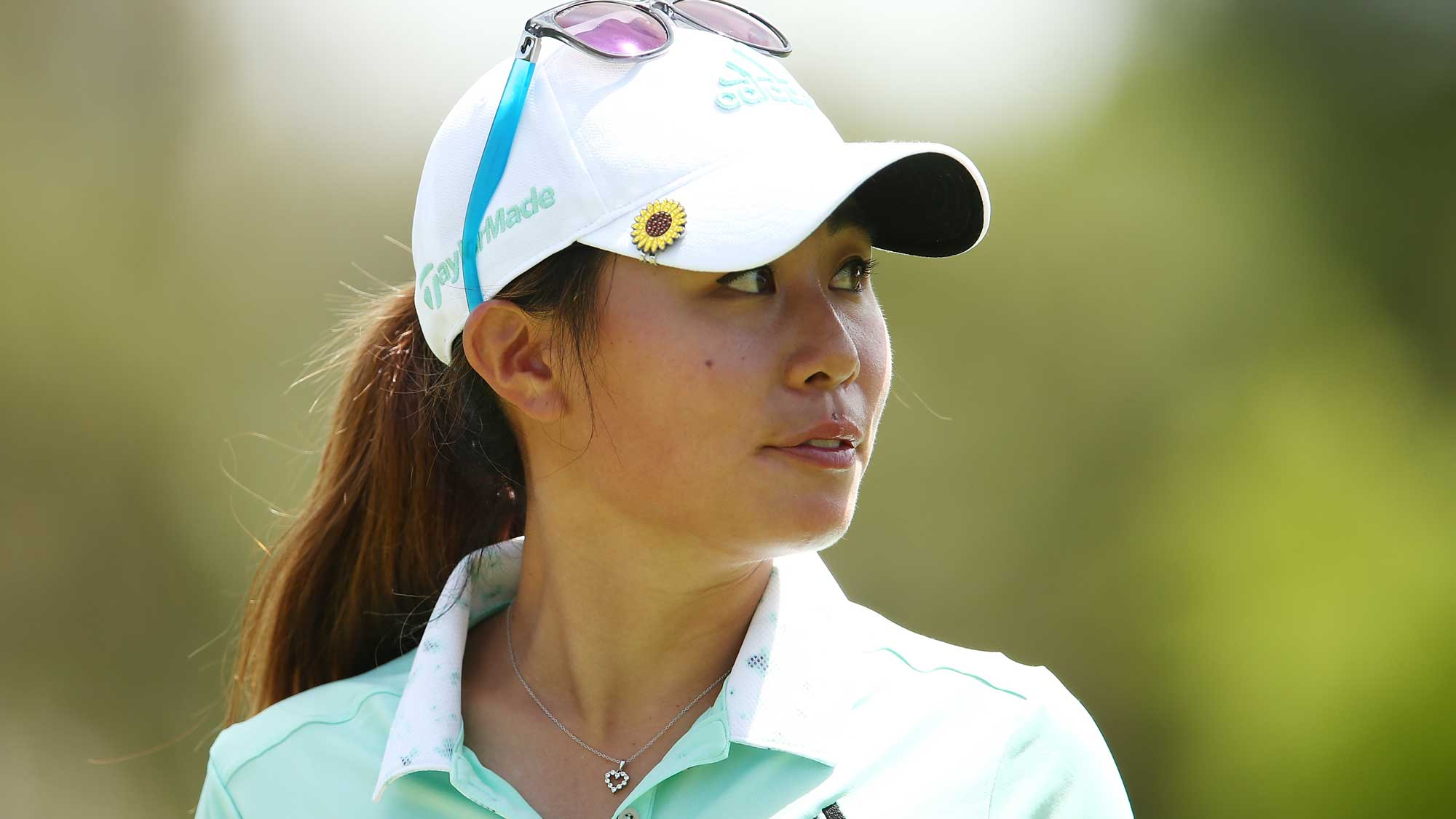 Danielle Kang of the USA looks on during day four of the ISPS Handa Women's Australian Open