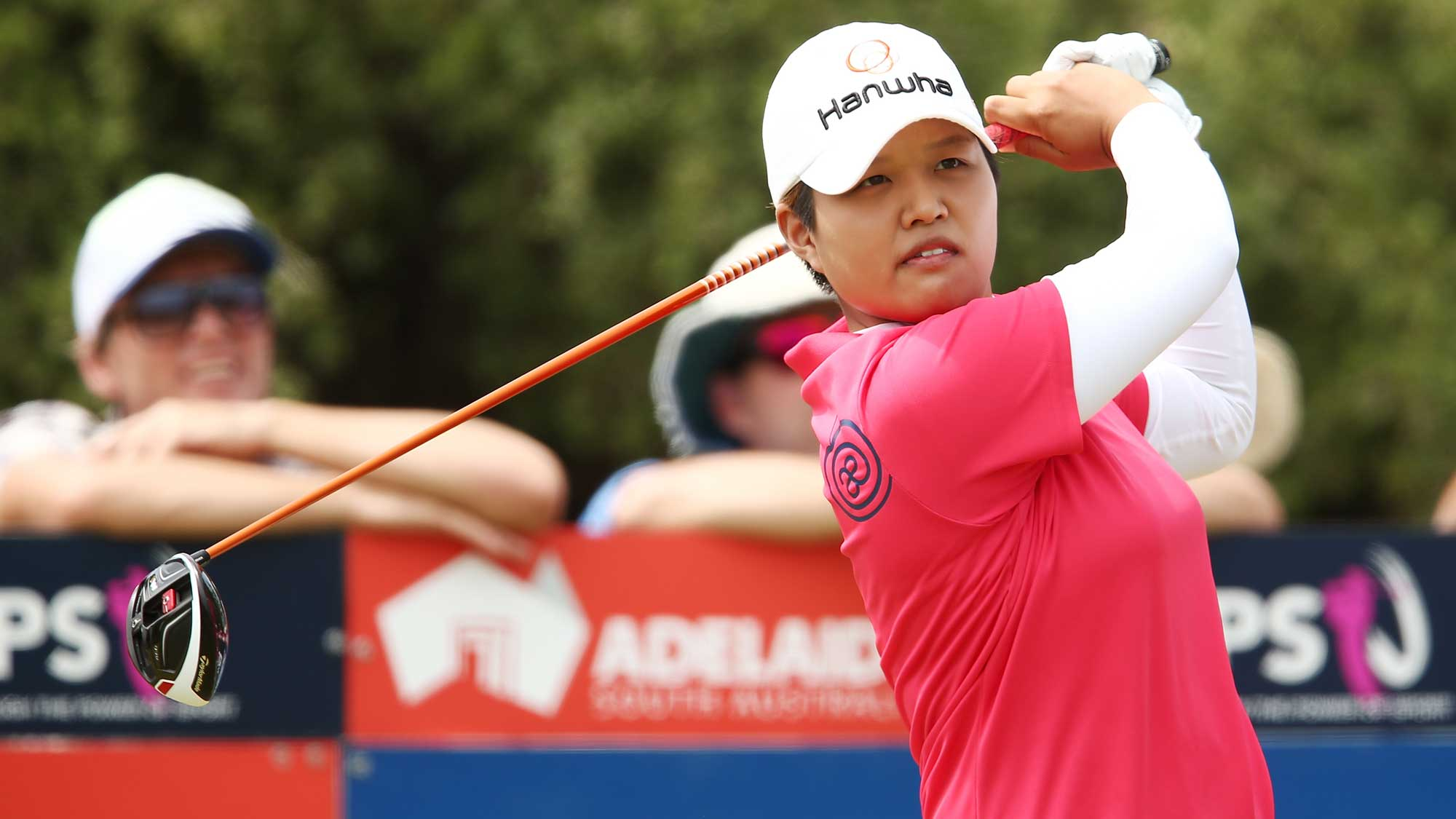 Haru Nomura of Japan competes during day four of the ISPS Handa Women's Australian Open