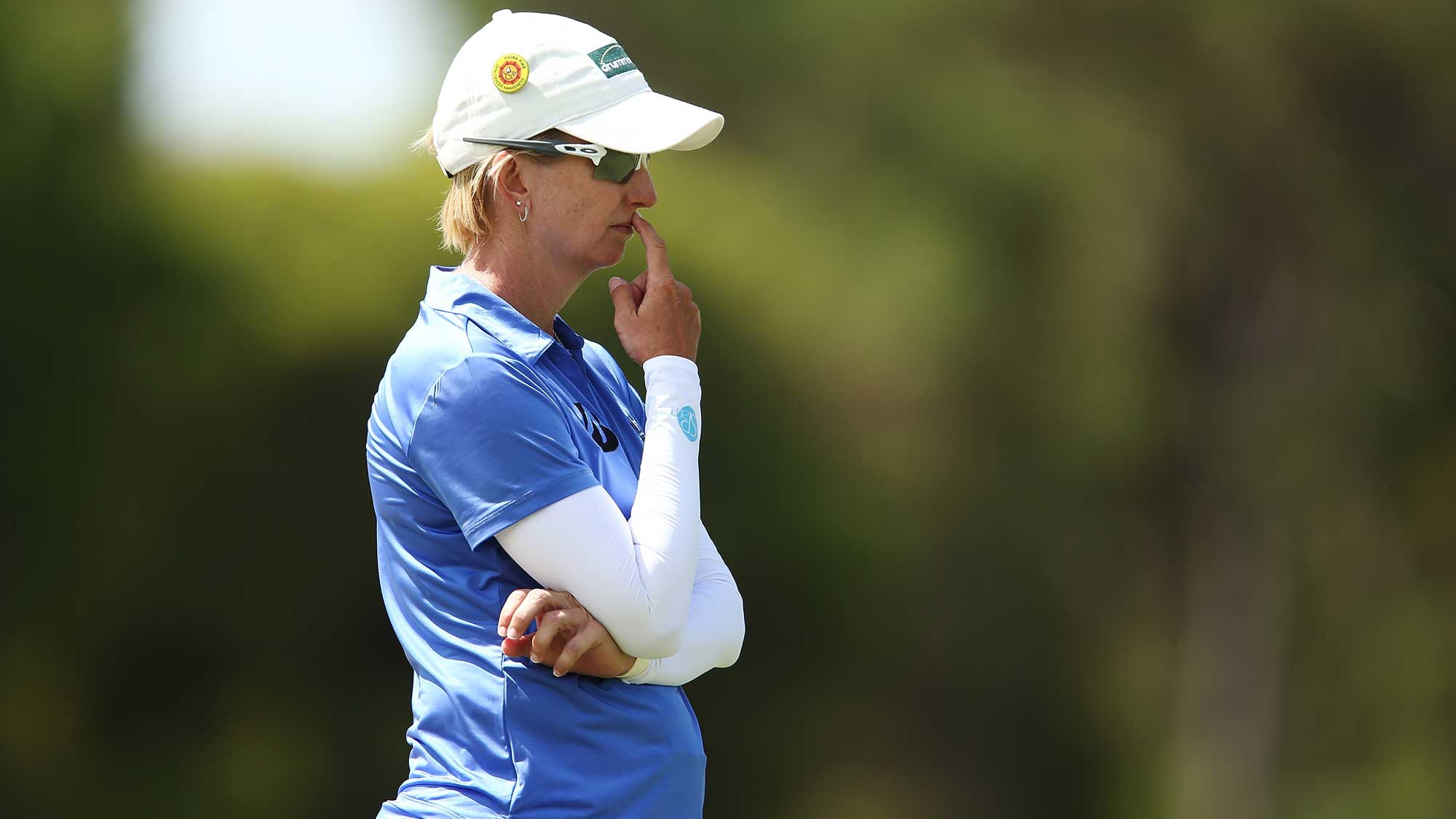 Karrie Webb of Australia looks on during day four of the ISPS Handa Women's Australian Open