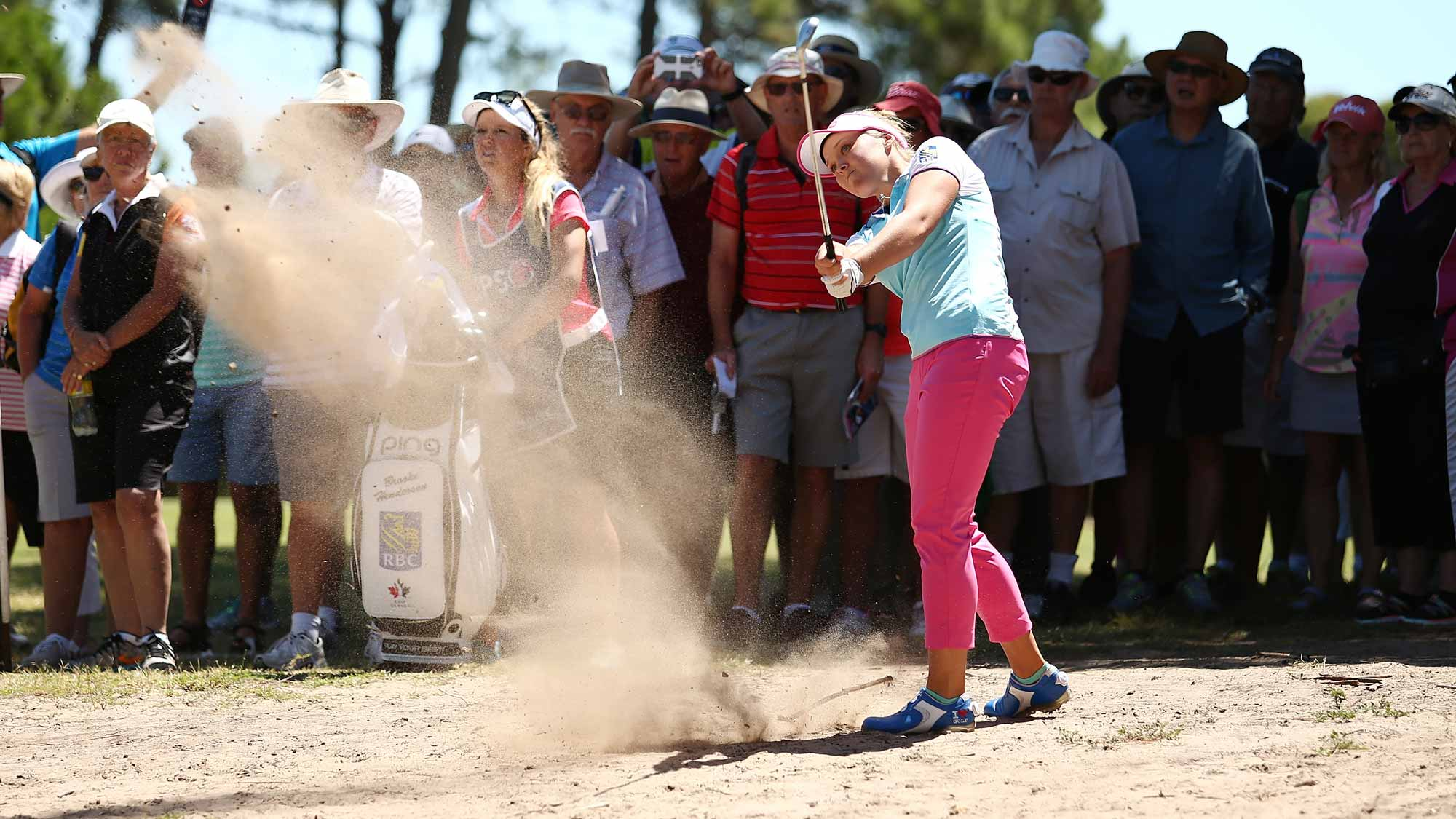 Brooke Henderson of Canada competes during day one of the ISPS Handa Women's Australian Open