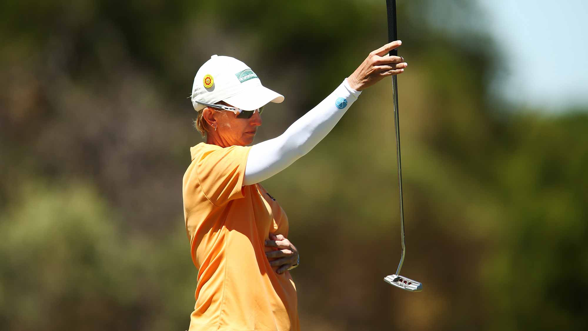 Karrie Webb of Australia competes during day one of the ISPS Handa Women's Australian Open