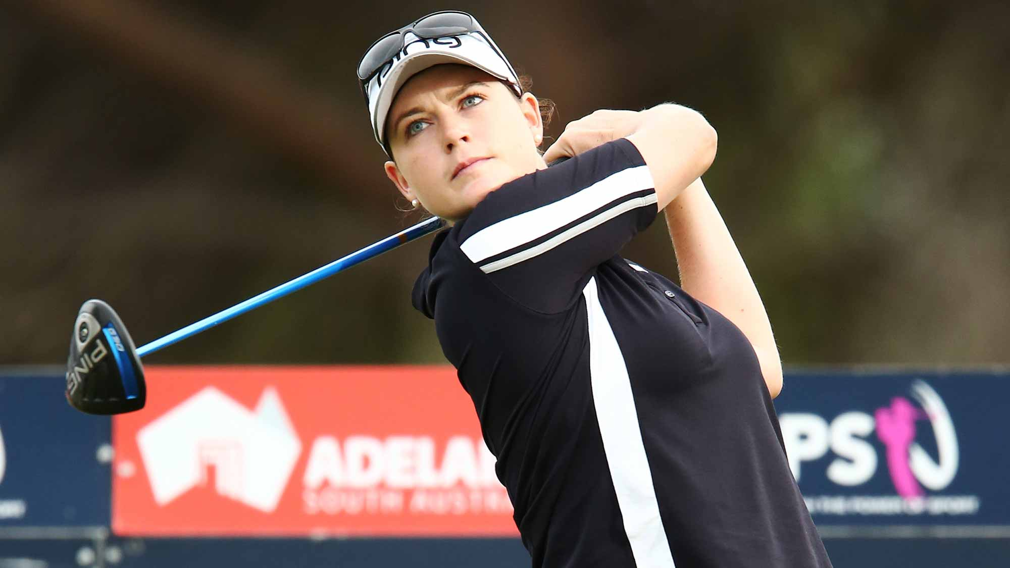 Caroline Masson of Germany competes during day two of the ISPS Handa Women's Australian Open