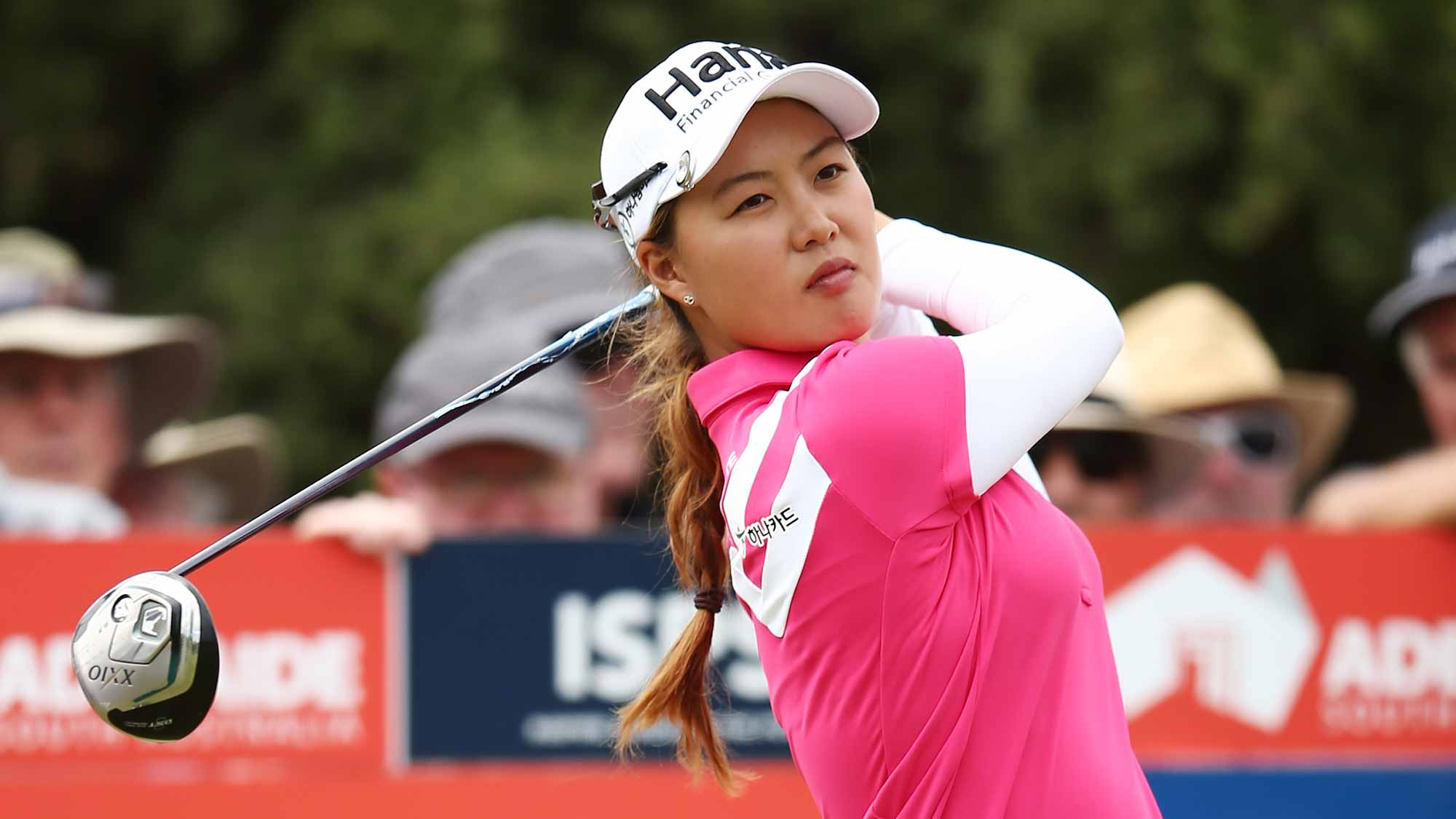 Minjee Lee of Australia competes during day two of the ISPS Handa Women's Australian Open