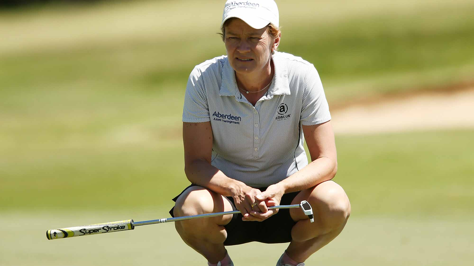 Catriona Matthew of Scotland competes during day three of the ISPS Handa Women's Australian Open
