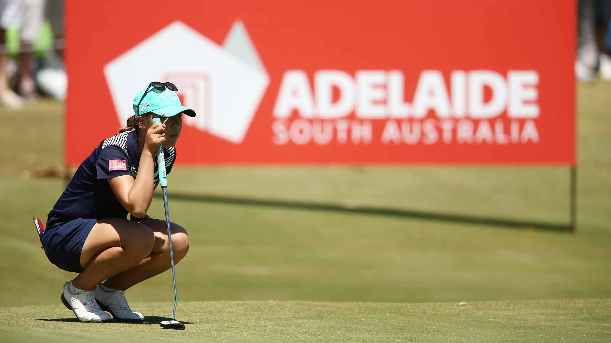 Lydia Ko of New Zealand competes during day three of the ISPS Handa Women's Australian Open