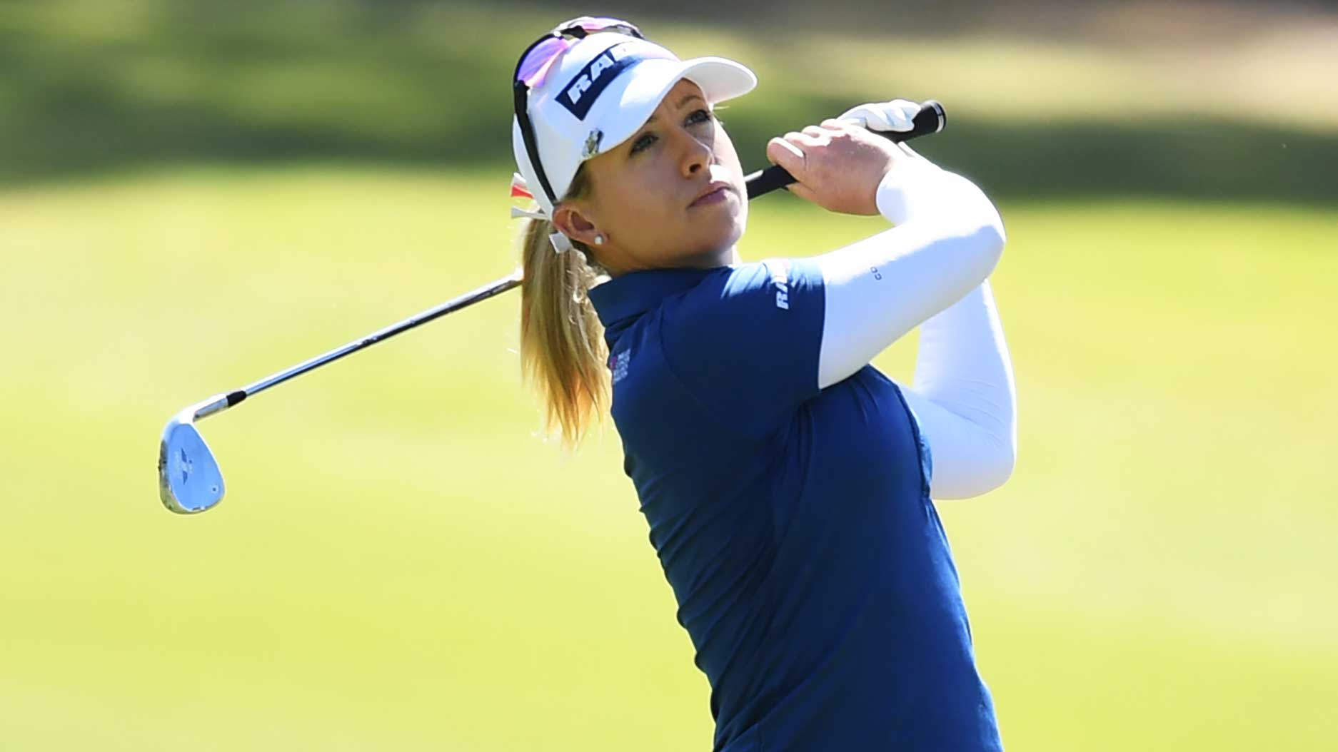 Jodi Ewart Shadoff of Great Britain during day one of the 2019 ISPS Handa Women's Australian Open