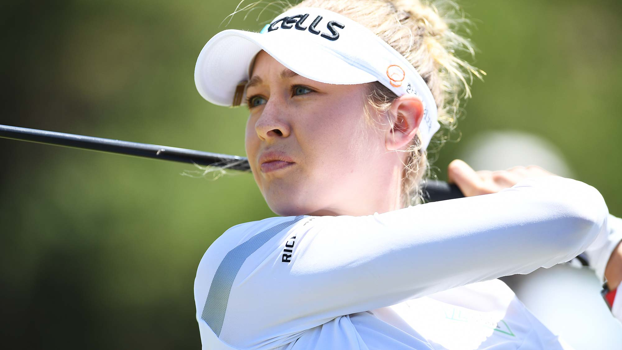 Nelly Korda of the USA drives during day one of the 2019 ISPS Handa Women's Australian Open