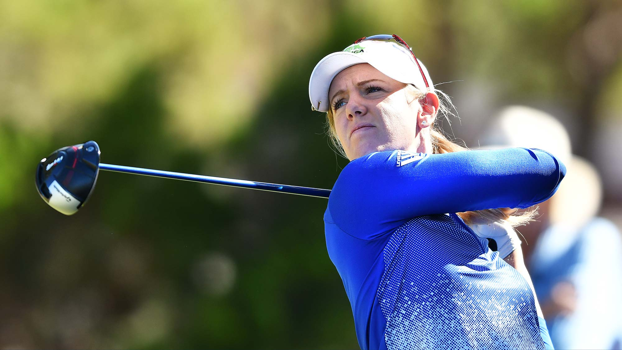 Amy Olson of the USA during day two of the 2019 ISPS Handa Women's Australian Open
