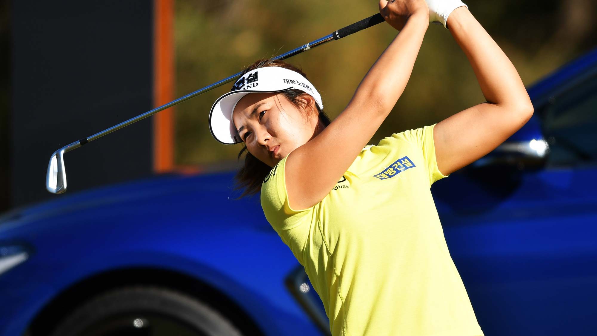 Su Oh of Australia during day two of the 2019 ISPS Handa Women's Australian Open