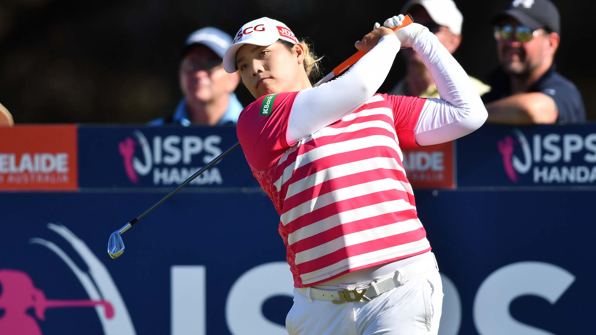 Ariya Jutanugarn of Thailand during day three of the 2019 ISPS Handa Women's Australian Open