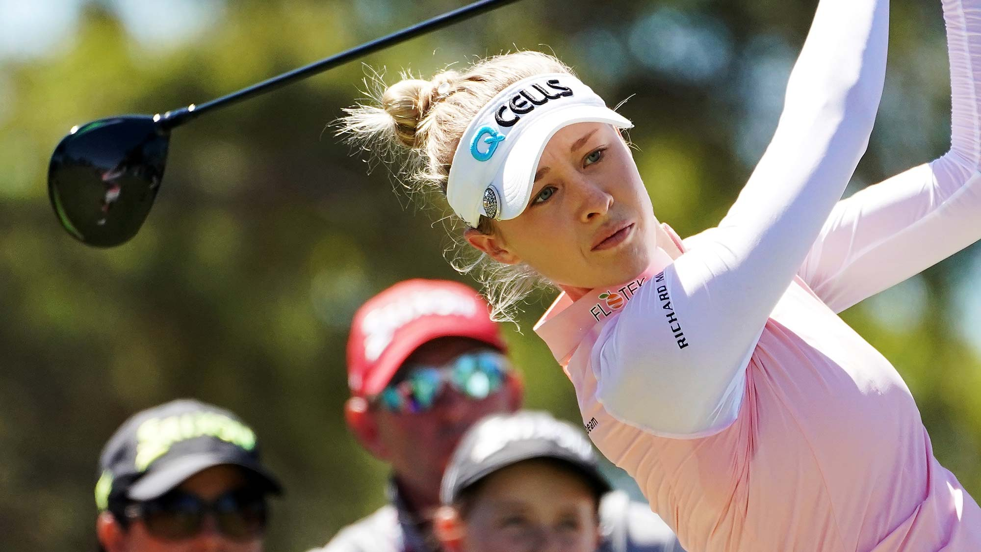 Nelly Korda of the United States tees off during day three of the 2019 ISPS Handa Women's Australian Open