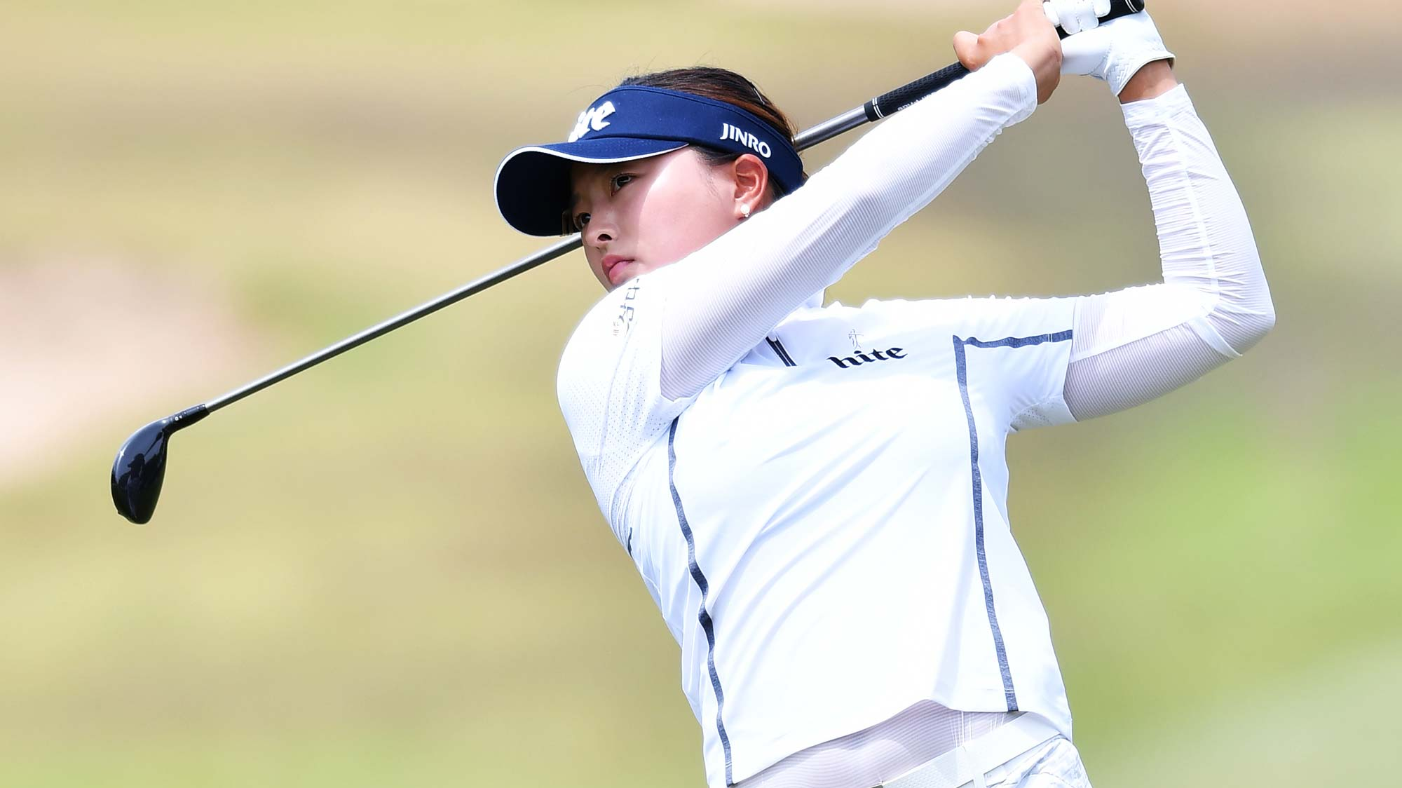Jin Young Ko of Korea during day four of the 2019 ISPS Handa Women's Australian Open