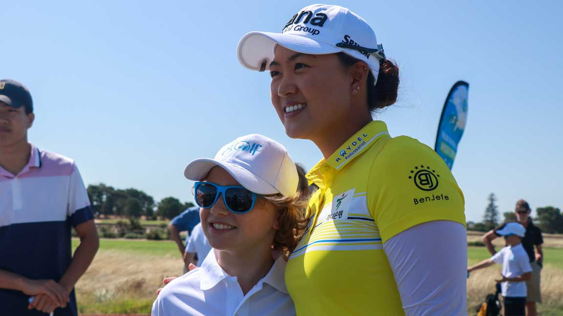Minjee Lee Junior Clinic ahead of ISPS Handa Women's Australian Open