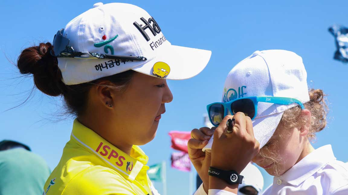 Minjee Lee Junior Clinic ahead of 2020 ISPS Handa Women's Australian Open