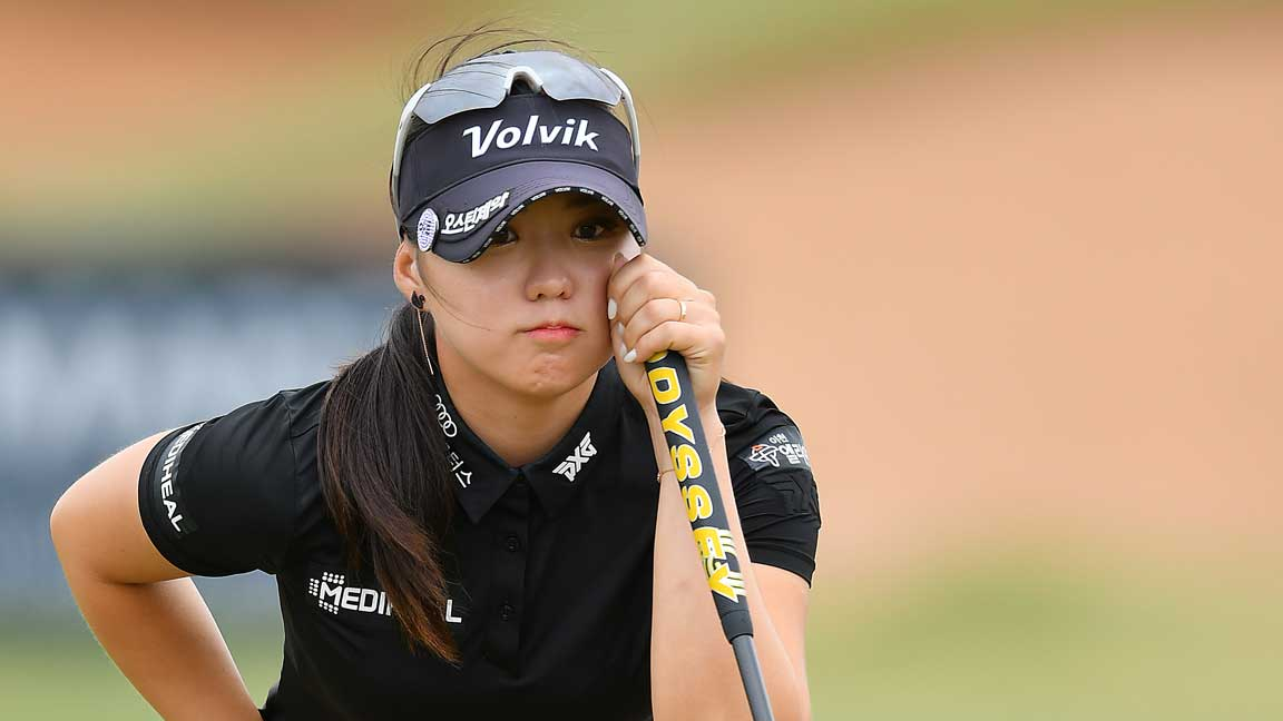 Ayean Cho during third round play at 2020 ISPS Handa Women's Australian Open