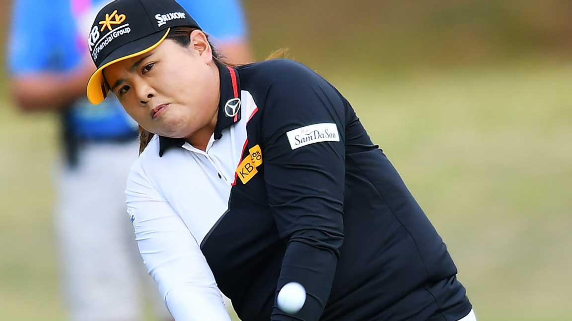 Inbee Park during third round play at 2020 ISPS Handa Women's Australian Open