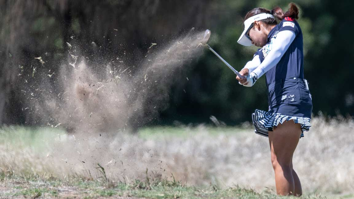 Mi Hyang Lee during fourth round of the 2020 ISPS Handa Women's Australian Open