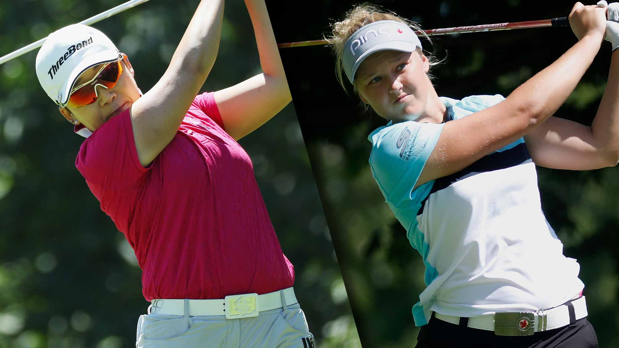 Brooke Henderson remains in contention at women's PGA Championship