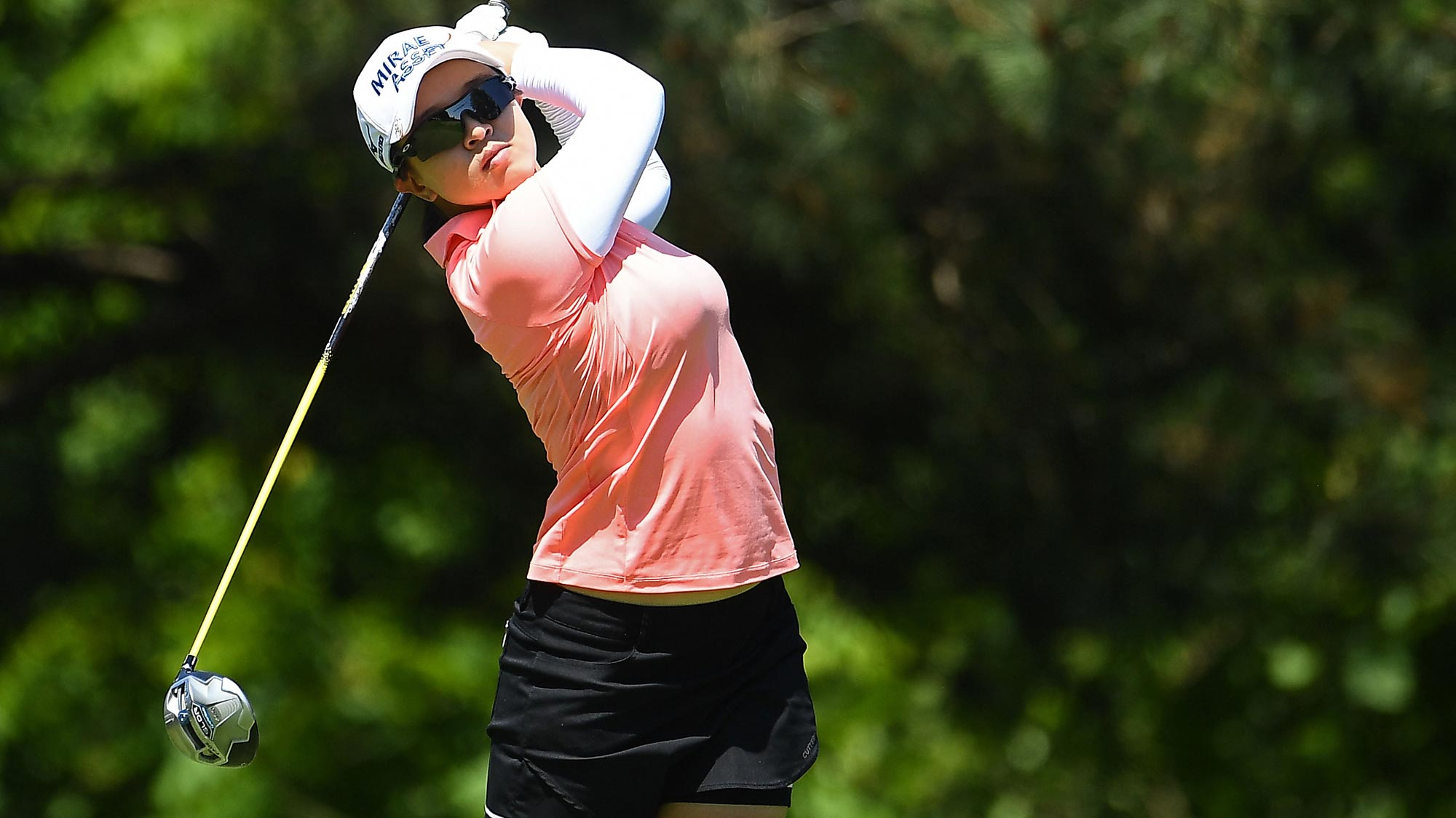 Sei Young Kim of Korea hits her tee shot on the second hole during the second round of the KPMG Women's PGA Championship