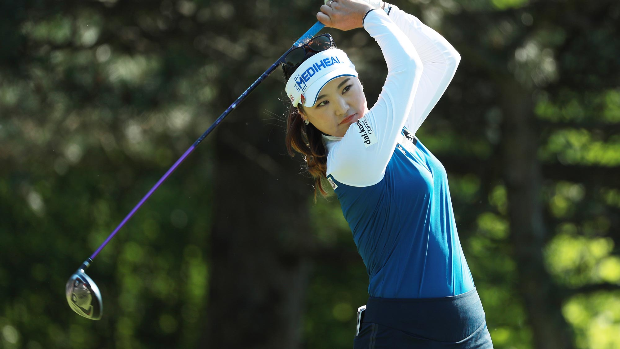 So Yeon Ryu of South Korea hits her tee shot on the second hole during the second round of the KPMG Women's PGA Championship